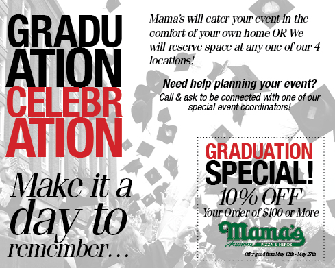 Have Mama's Cater your Graduation Party
