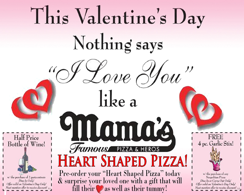 Mama's Famous Pizza & Heros - Specials
